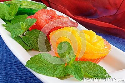 Dessert of orange, grapefruit, kiwi