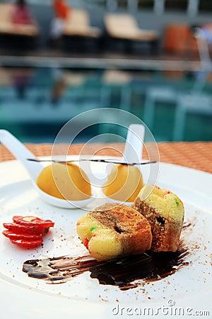 Dessert at outdoor