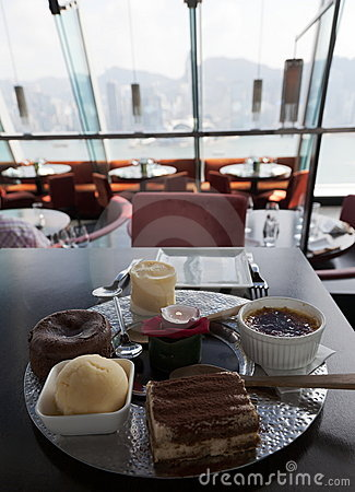 Dessert platter. Kowloon. Hong Kong.