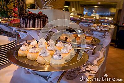 Dessert at restaurant
