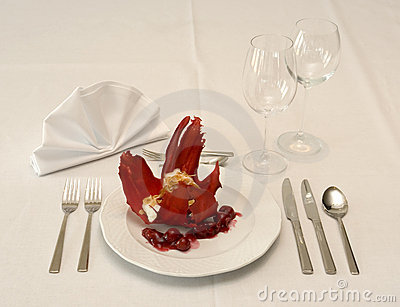 Dessert on restaurant table
