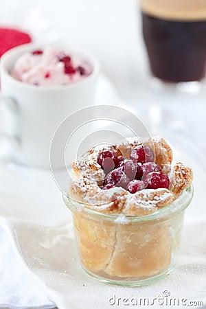 Dessert trio with coffee