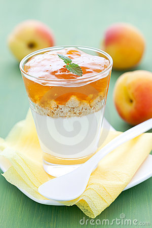 Free Dessert With Apricot Stock Photo - 19927530