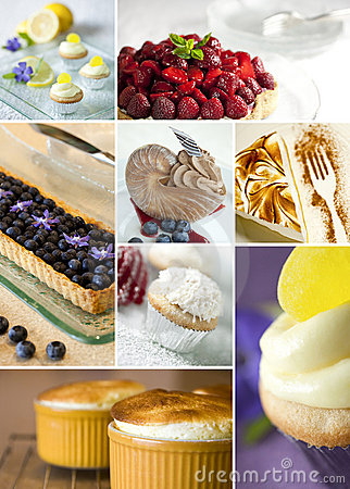 Free Desserts Collage Royalty Free Stock Photo - 19748945