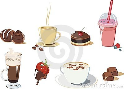 Desserts and Drinks icon set