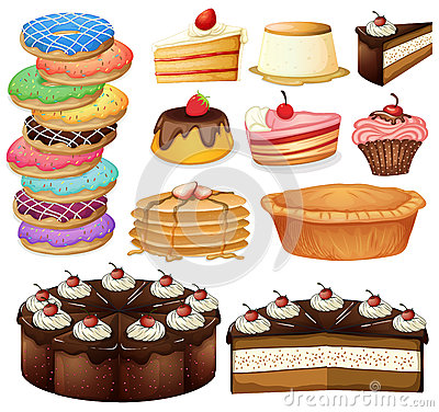 Desserts Vector Illustration