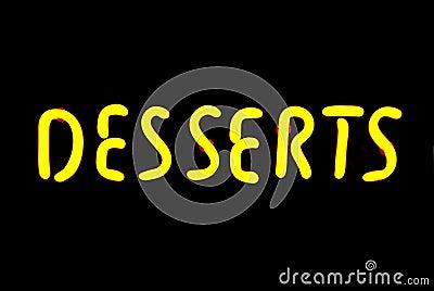 Desserts Neon Sign