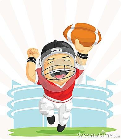 Dessin anim de joueur heureux de football am ricain photo stock image 27907200 - Dessin football americain ...
