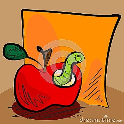 Dessin anim sale de ver de terre de pomme avec collant - Dessin ver de terre ...