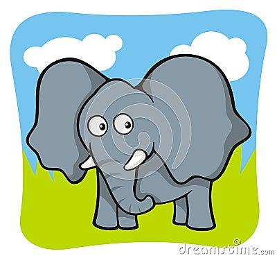 Dessin anim d 39 l phant images libres de droits image - Dessin d elephant ...