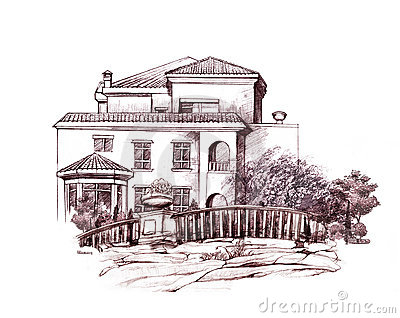 Roof coloring page