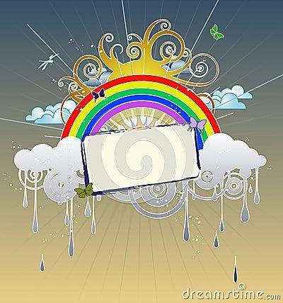 Dessin d 39 arc en ciel images libres de droits image 3028359 - Dessin arc en ciel ...