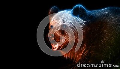 Dessin d 39 imagination de digital d 39 un ours illustration - Dessin d un ours ...