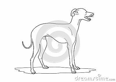 Dessin d 39 un chien mignon illustration de vecteur image 72093645 - Dessin d un chien ...