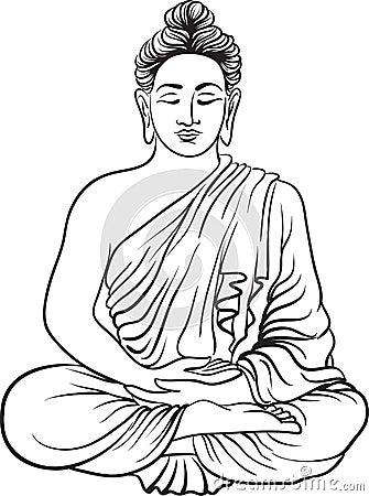 dessin dune statue de bouddha illustration de vecteur image 82675269
