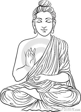 illustration dessin dune statue de bouddha photo libre de droits image 37645475