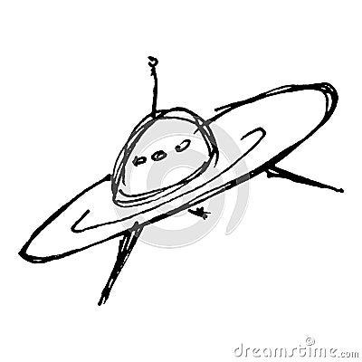 Dessin de croquis d 39 un vaisseau spatial illustration de vecteur image 55763913 - Dessin vaisseau spatial ...