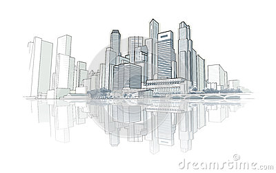 Dessin De Perspective D Horizon Illustration Stock Image