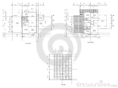 dessin de plan d 39 architecture illustration stock image