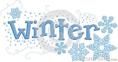 Dessin saisonnier de l hiver