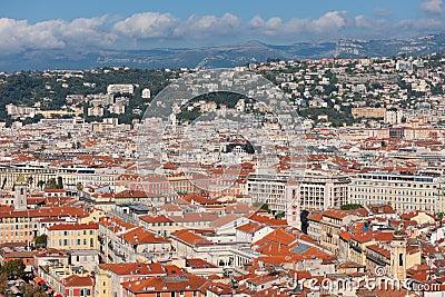Dessus de toit de Nice