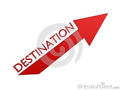 Destination arrow