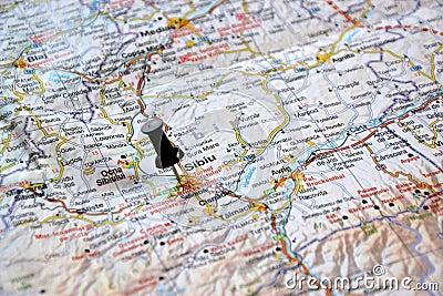 Destination: Sibiu Rumänien.