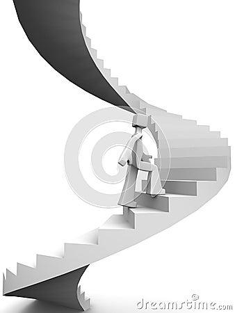 Destination to success of life concept