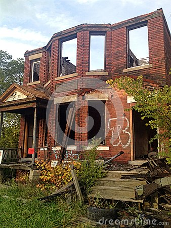 Free Destroyed Brick House Royalty Free Stock Images - 92366599