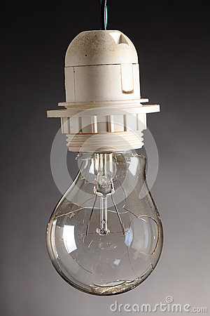 Destroyed bulb Stock Photo