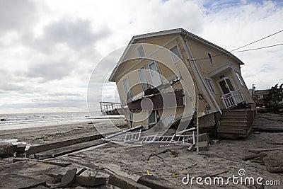 Destroyed homes in  Far Rockaway Editorial Photo