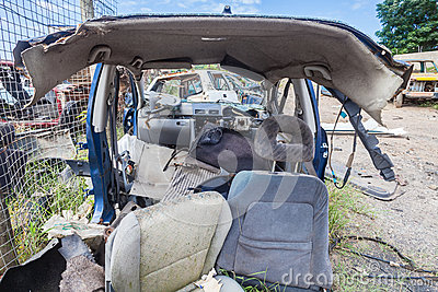 Destroyed Vehicle Half Scrap