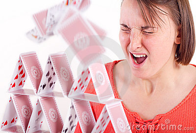 Destroying house of cards