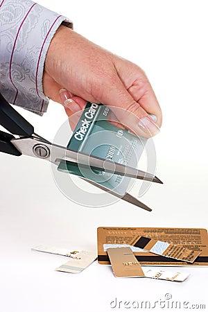 Destroying credit cards