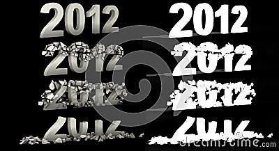 Destruction 2012 number text