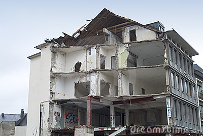 Destruction of a building