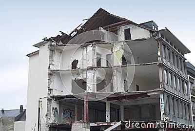 Destruction of a building
