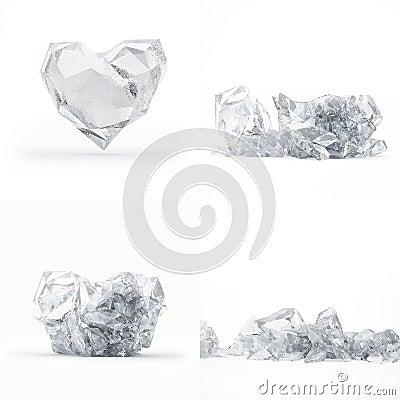 Destruction du coeur gelé