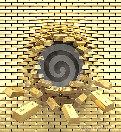 Destruction of a golden wall
