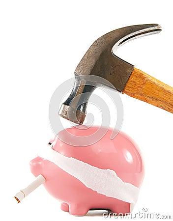 Destruction of savings