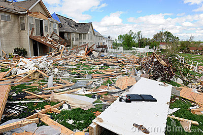 Destruction After Tornadoes Hit Saint Louis Editorial Stock Photo