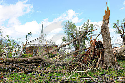 Destruction After Tornadoes Hit Saint Louis Editorial Stock Image