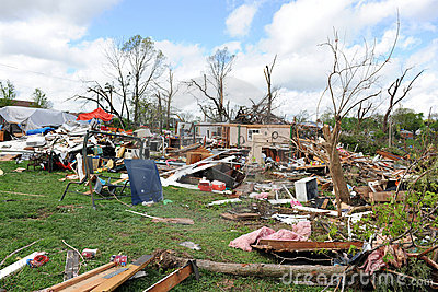 Destruction After Tornadoes Hit Saint Louis Editorial Image