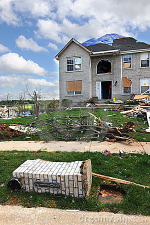 Destruction After Tornadoes Hit Saint Louis Editorial Image