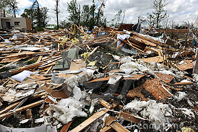 Destruction After Tornadoes Hit Saint Louis Editorial Photography