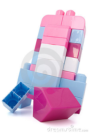 Destruction of a tower from toy blocks