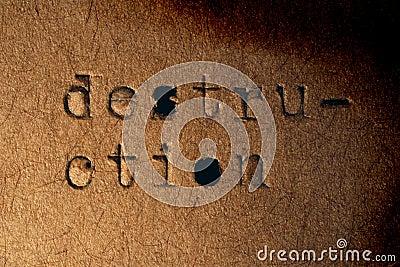Destruição