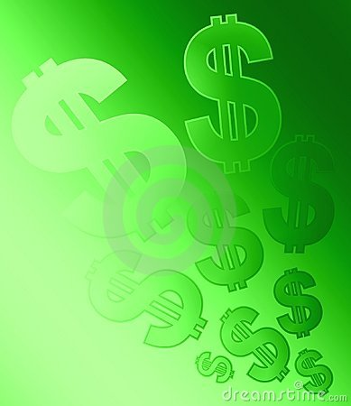 Desvanecimento do fundo dos sinais de dólar