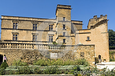 Lourmarin slott (chateau de lourmarin), Provence, Luberon, Frankrike