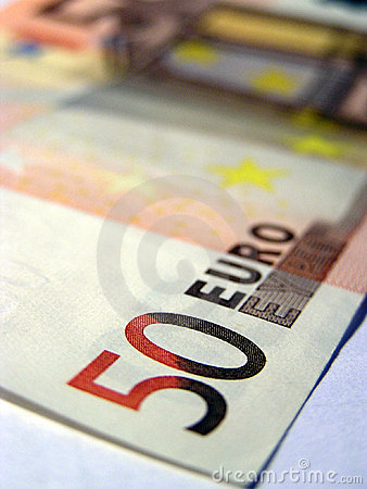 Detail of a 50 Euro banknote